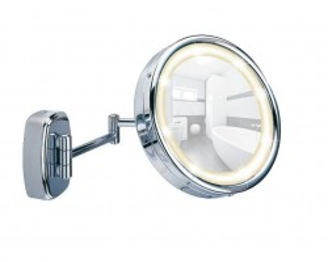 Oglinda cosmetica argintie pentru perete din otel 22,5 cm Touch Wenko