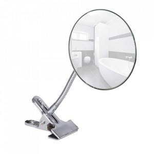 Oglinda cosmetica rotunda argintie din metal 15x27 cm Daisy Wenko