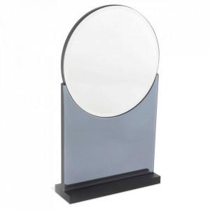 Oglinda de masa gri din sticla 20x35 cm Disco Opjet Paris