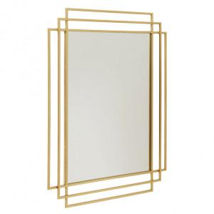 Oglinda din metal auriu 97 cm Square Nordal
