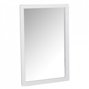 Oglinda dreptunghiulara alba din lemn de mesteacan si MDF 60x90 cm Methro Rowico Home