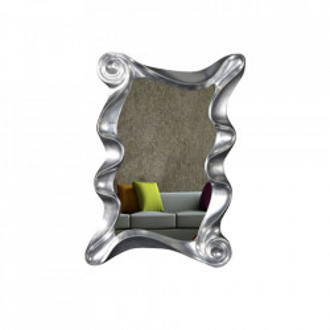 Oglinda dreptunghiulara argintie din polirasina 106x160 cm Alice Invicta Interior