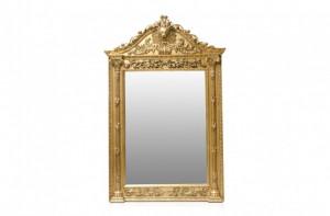 Oglinda dreptunghiulara aurie cu rama din lemn 163x267 cm Baroque Versmissen