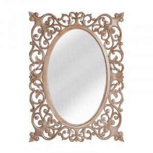 Oglinda dreptunghiulara maro din lemn 80x110 cm Hellen Vical Home