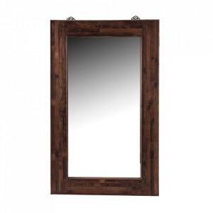 Oglinda dreptunghiulara maro din lemn 90x150 cm Tromso Vical Home