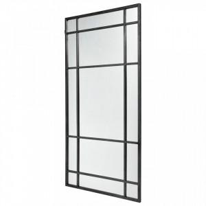Oglinda dreptunghiulara neagra din metal 101,5x203,5 cm Spirit Nordal