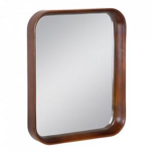Oglinda maro din lemn de fag si sticla 40x50 cm Evika Ixia