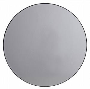 Oglinda rotunda gri din sticla 75 cm Mirra Round Nordal