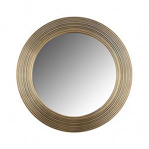 Oglinda rotunda maro alama din aluminiu si MDF 41 cm Montel Richmond Interiors