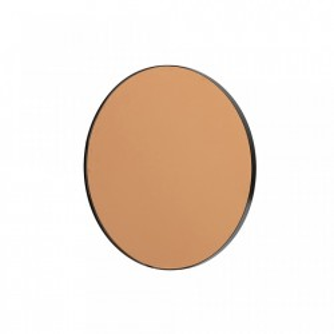 Oglinda rotunda neagra din fier 45 cm Drew Woood