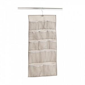 Organizator bej din fleece Hanging Storage Stripes Accesories Zeller