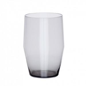 Pahar gri din sticla 8x12 cm Posy Hubsch
