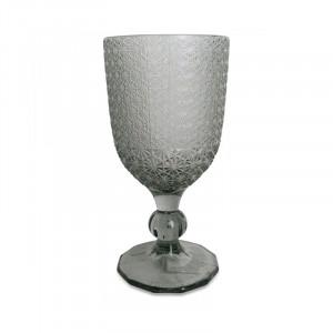 Pahar gri din sticla 8x16,5 cm Lina Opjet Paris