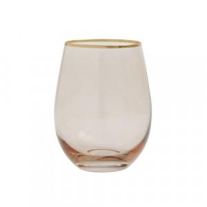 Pahar transparent/auriu din sticla 7x12 cm Goldie Nordal