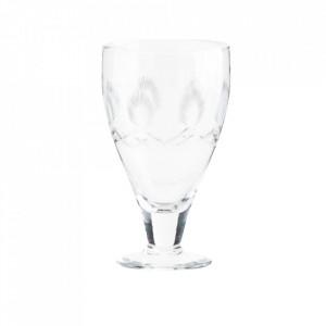Pahar transparent din sticla 7,5x13,5 cm Tina Madam Stoltz