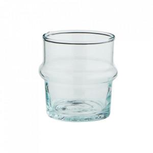 Pahar transparent din sticla reciclata 5,5x6 cm Beldi Madam Stoltz