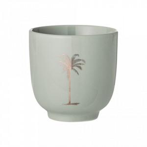 Pahar verde din ceramica 7 cm Palm Bloomingville