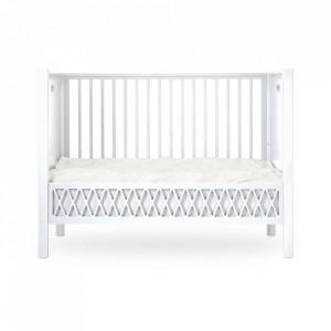 Patut alb din lemn si MDF 70x140 cm Harlequin Cam Cam