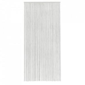 Perdea usa alba din bambus 90x200 cm Nordal