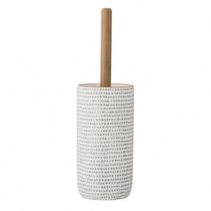Perie toaleta din ceramica alba 11x40 Edda cm Bloomingville