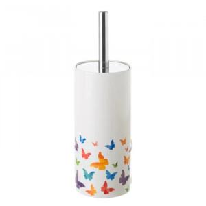 Perie toaleta multicolora din ceramica Fly Unimasa