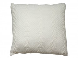 Perna alba din acril 45x45 cm Knitted Santiago Pons