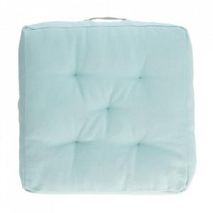 Perna de podea albastra din bumbac 60x60 cm Sarit Kave Home