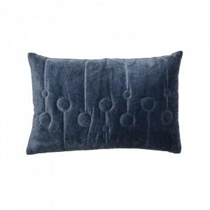 Perna decorativa dreptunghiulara albastra din bumbac 40x60 cm Amia Bloomingville