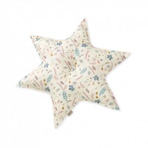 Perna decorativa multicolora pentru copii din bumbac 48 cm Abi Pressed Leaves Rose Cam Cam
