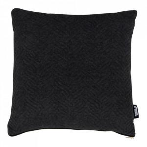Perna decorativa neagra din bumbac si poliester 45x45 cm Ferrel House Nordic