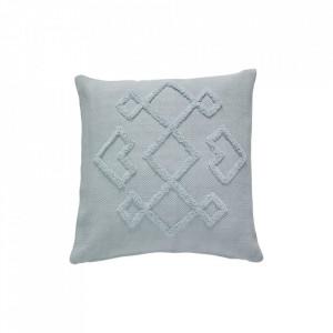 Perna decorativa patrata albastra din bumbac Filler Cushion 50x50 cm Hubsch