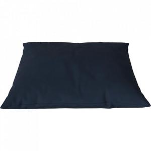 Perna decorativa patrata albastra din piele 60x60 cm Classic Austin Bolia