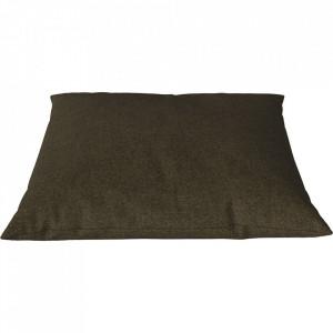Perna decorativa patrata army melanj din lana 60x60 cm Classic Qual Bolia