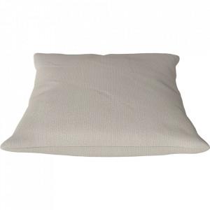 Perna decorativa patrata bej din textil 50x50 cm Classic Ascot Bolia