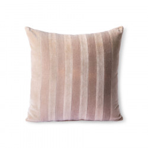Perna decorativa patrata bej/maro rosiatic din catifea 45x45 cm Milos HK Living