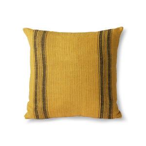 Perna decorativa patrata galben mustar din in 45x45 cm Kora HK Living