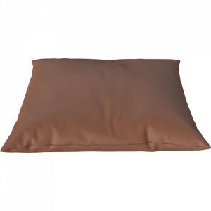 Perna decorativa patrata maro coniac din piele 60x60 cm Classic Quattro Traceable Bolia