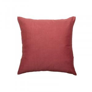 Perna decorativa patrata rosie din bumbac si poliester 45x45 cm Aloisia Bloomingville