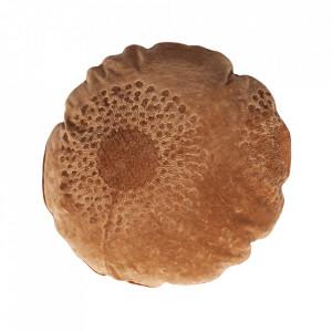 Perna decorativa rotunda maro din bumbac 45 cm Babs Woood