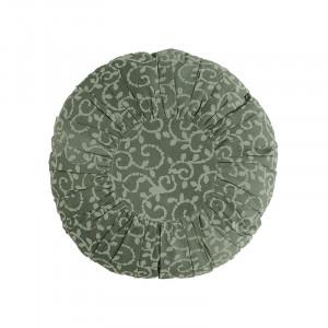 Perna decorativa rotunda verde prafuit din bumbac si fibre 45 cm Musa Madam Stoltz