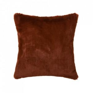 Perna patrata maro teracota din poliester pentru sezut 45x45 cm Pluto Unimasa
