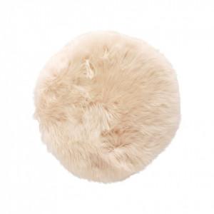 Perna sezut alba din blana 38 cm Short Hubsch