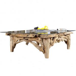 Picior pentru masa maro din lemn de tec Riverside Invicta Interior