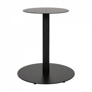Picior pentru masa negru din metal Tablo Round Woood