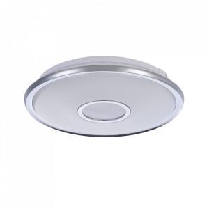 Plafoniera alba/argintie din plastic cu LED Lulea Design Maytoni