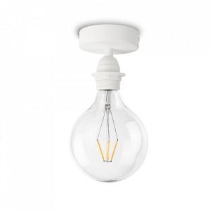 Plafoniera alba din cauciuc termoplastic si otel Uno Plus Bulb Attack