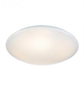 Plafoniera alba din metal si plastic cu LED Plain XL Markslojd