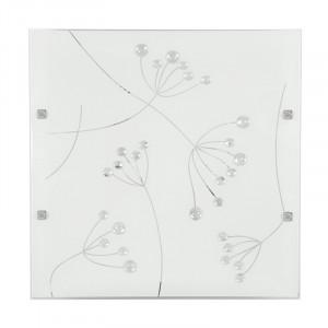 Plafoniera alba din sticla si otel cu LED Arty Candellux
