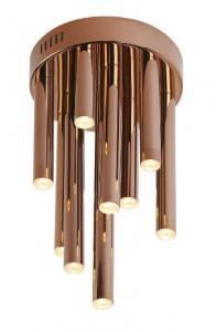 Plafoniera aramie din metal si plastic cu 10 LED-uri Organic Copper Ceiling Small Maxlight