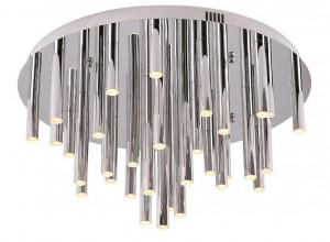 Plafoniera dimabila argintie din metal si plastic cu 33 LED-uri Organic Chrome Ceiling Large Maxlight